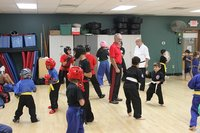 Kids sparring at NTS - 2015